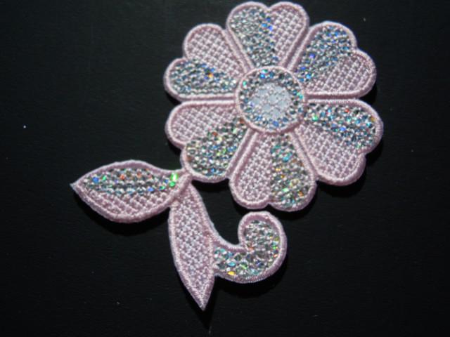 画像2: スパングルト-ン!ホットフィックスの人気の可愛い花柄  ピンク