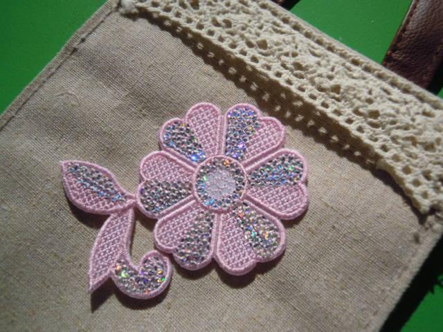 画像3: スパングルト-ン!ホットフィックスの人気の可愛い花柄  ピンク