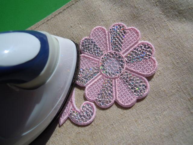 画像1: スパングルト-ン!ホットフィックスの人気の可愛い花柄  ピンク