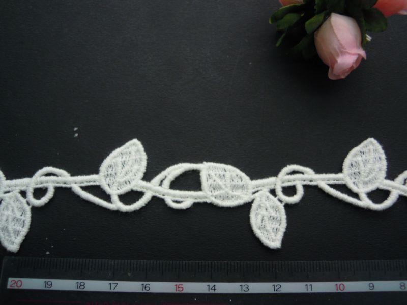 画像3: 人気のリーフ柄・・大 綿ケミカルのアクセサリーレース 約50センチ