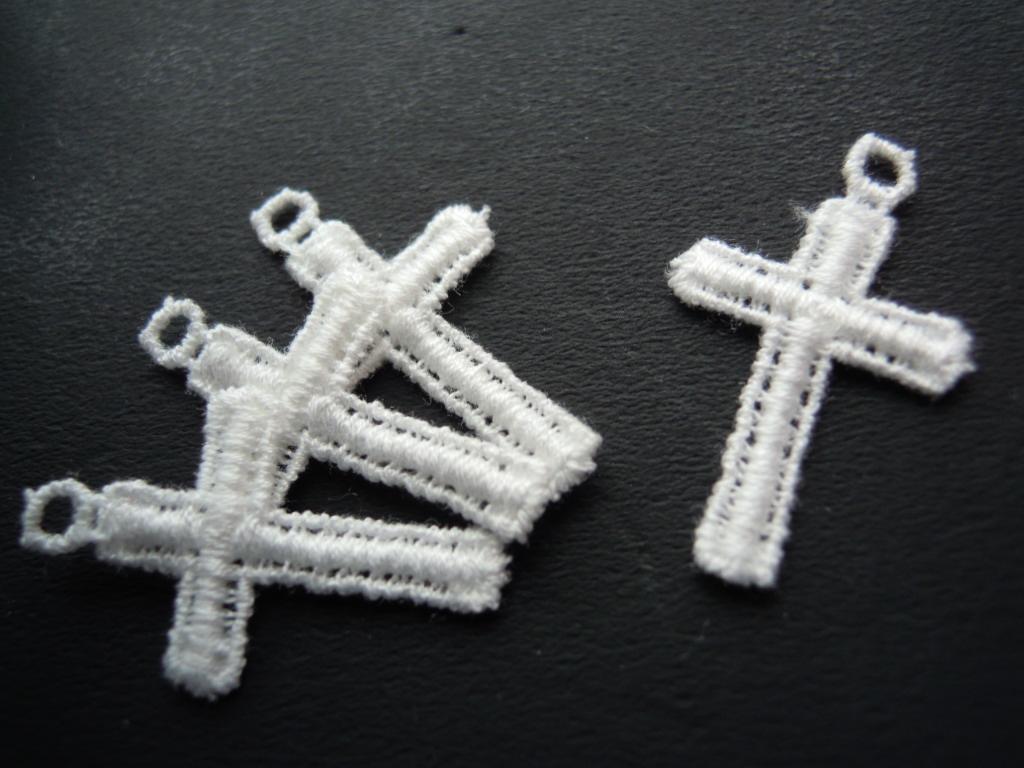 画像2: 流行の綿ケミカル 人気のミニクロス柄のアクセサリーレース 4枚