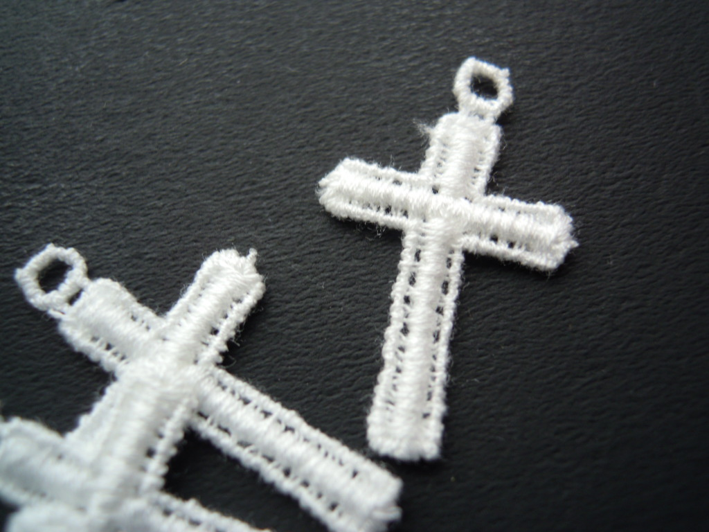 画像1: 流行の綿ケミカル 人気のミニクロス柄のアクセサリーレース 4枚