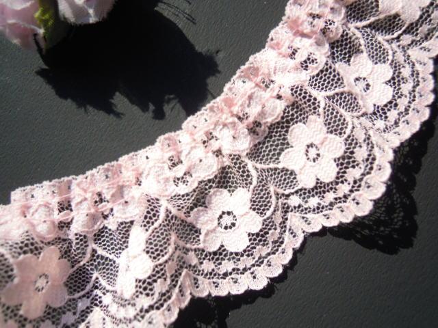 画像1: 幅約4c 人気のピンクのフリル 10M