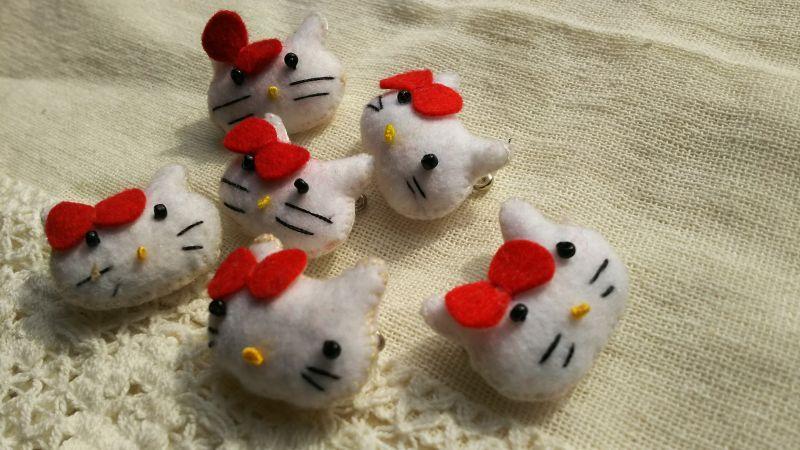 画像2: 可愛い可愛いネコちゃんのマスコット 8個入り