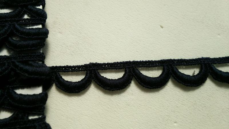 画像2: メッチャお買い得!繊細なコットン コン色のケミカルレース 3M