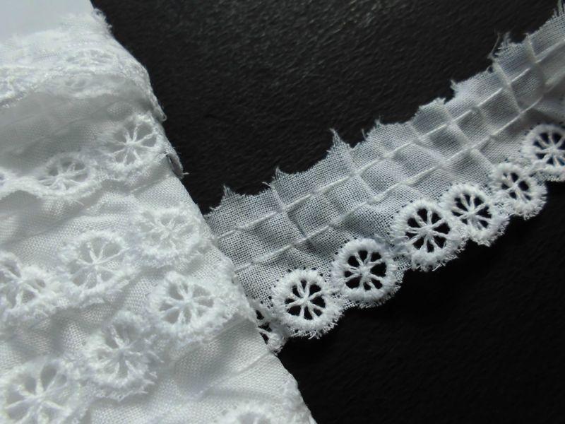 画像2: 在庫処分!メッチャ可愛い人気の綿フリル オフシロ 3M