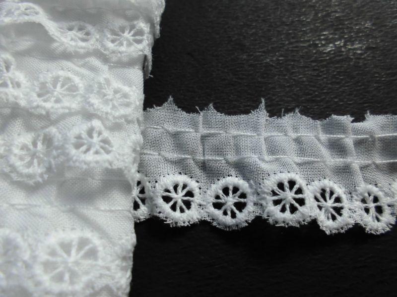 画像1: 在庫処分!メッチャ可愛い人気の綿フリル オフシロ 3M