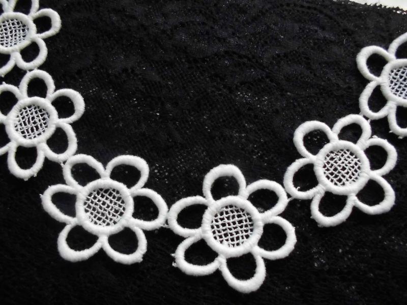 画像1: と〜ってもエレガントで繊細な花柄のコットン・アクセサリーレース 0.8M