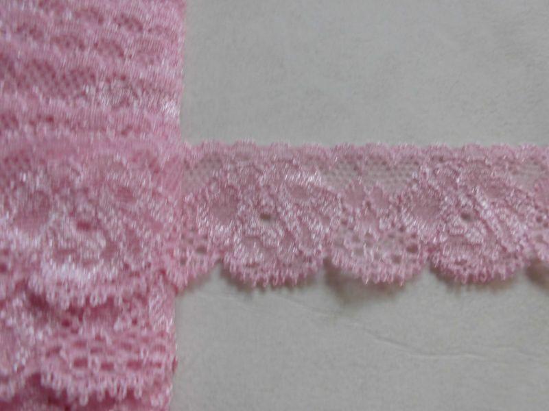 画像2: 肌に優しいカラーストレッチレース ピンク 10M