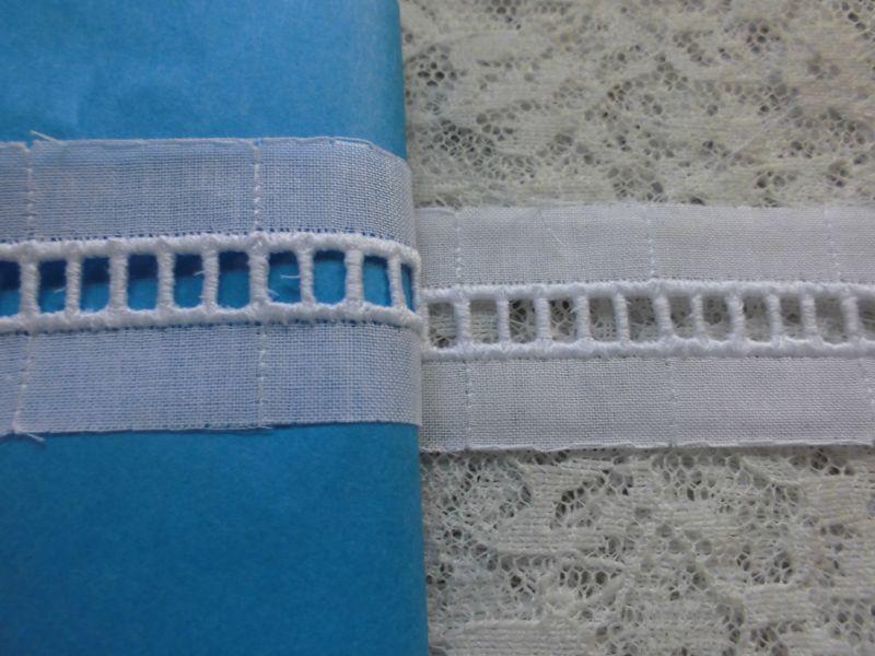 画像1: お買い得な綿はしごレース シロ たっぷり6.5M