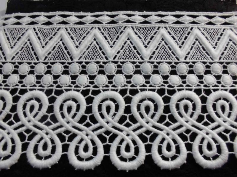 画像2: メッチャお買い得!エレガントなコットンのオフシロの綿ケミカルレース 1.5M
