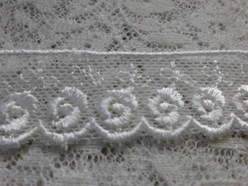 画像2: 幅約2c 人気の薔薇柄のチュール! オフシロの高級チュール  2M