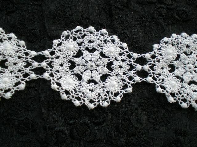 画像5: 人気のサークル柄 綿のコットンケミカルのアクセサリーレース 30センチ