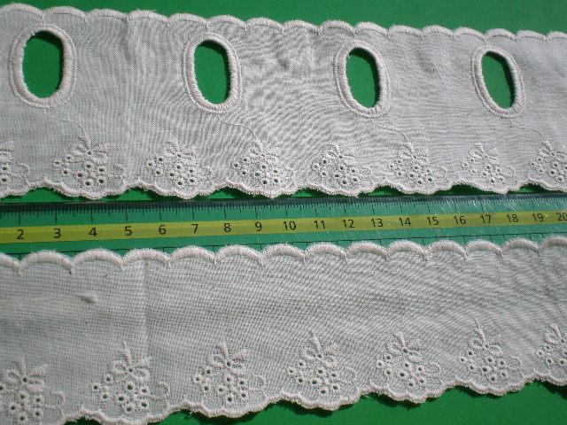 画像1: 綿のキナリのカフェレースセット 1.5MX2=3M