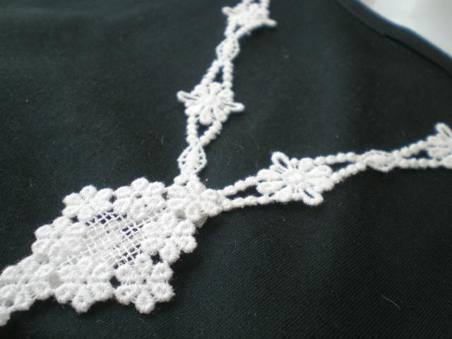 画像1: 流行の綿ケミカルのアクセサリーチェーンレース 1M