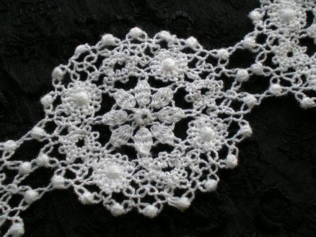画像3: 人気のサークル柄 綿のコットンケミカルのアクセサリーレース 30センチ