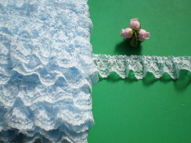画像2: 人気のブルーのラッセルフリル原反売り