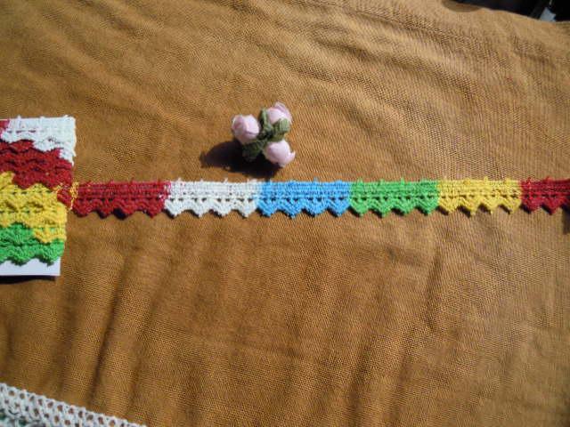 画像3: 遊び心が一杯!!!綿のマルチカラー ケミカルレース 3M