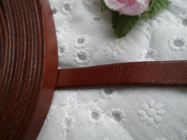 画像1: 幅約1C 日本製 チャ色のヌメ皮 1M