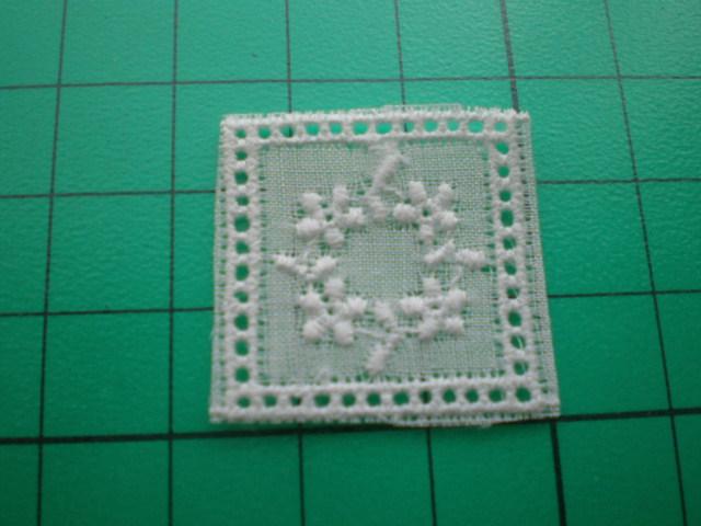 画像1: シロのとてもお洒落なパッチワークの綿チーフレース 16枚
