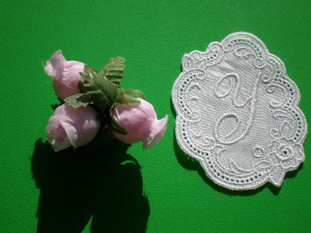 画像1: Y 繊細な綿のイニシャルモチーフ