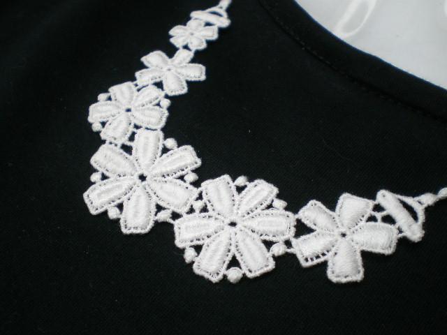 画像1: 流行の綿ケミカルの花柄のアクセサリーレース
