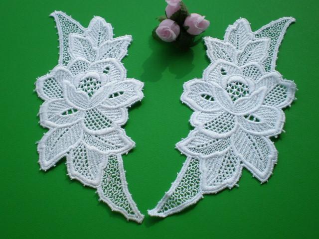 画像1: 人気の花柄の綿・ケミカルモチーフレース