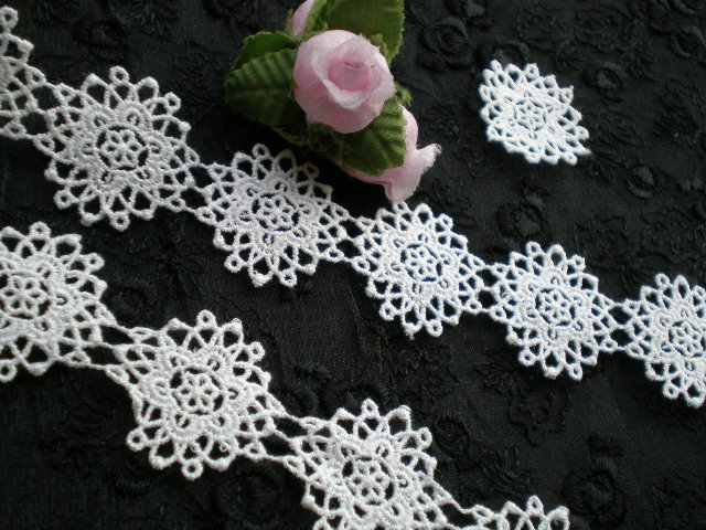 画像3: 人気のサークル柄 綿のコットンケミカルのアクセサリーレース 50センチ