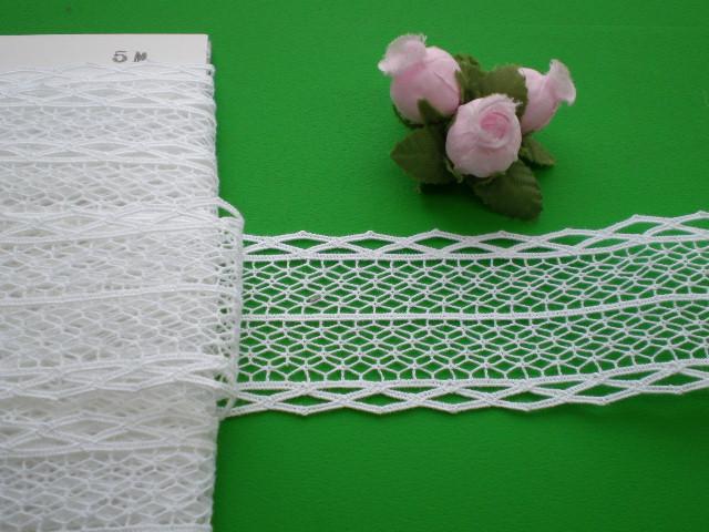 画像1: 幅4.1c 人気のシロの綿トーション・5M