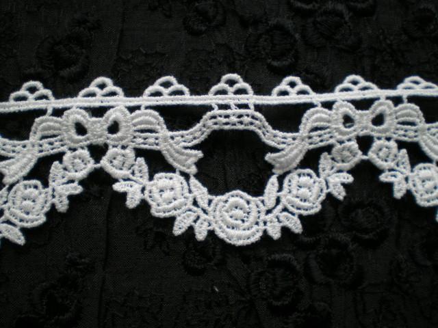 画像1: 人気の綿のコットンケミカルのアクセサリーレース 30センチ