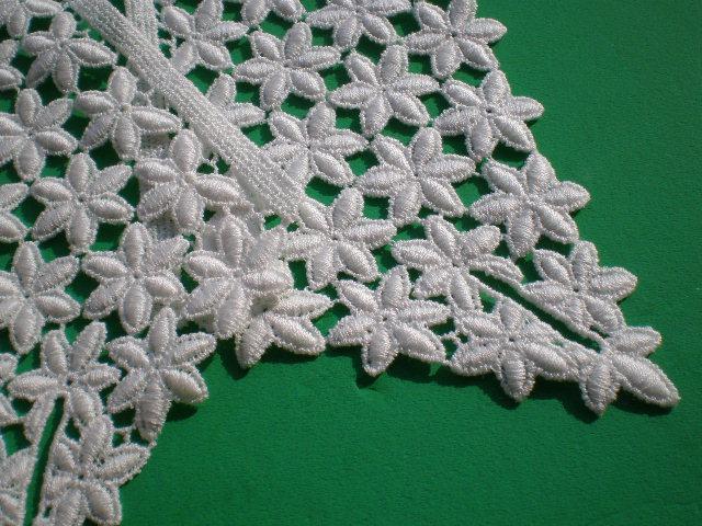 画像2: アイデア次第で・・・オフシロの付け袖の綿ケミカルレース 1組2枚
