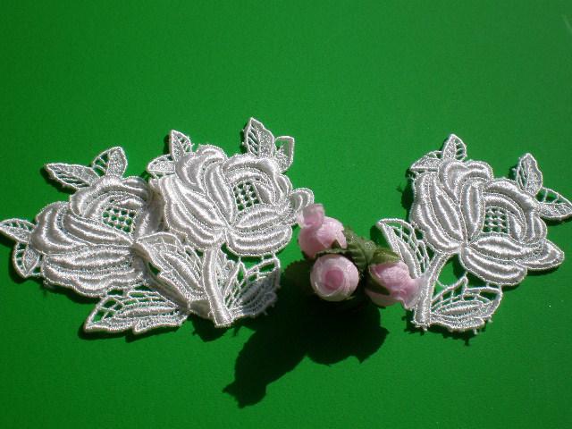 画像1: 人気の花柄のレーヨン・ケミカルモチーフレース