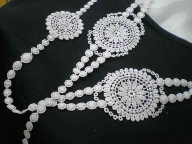 画像1: ちょっと贅沢な流行の綿ケミカルのアクセサリーレース 約1M